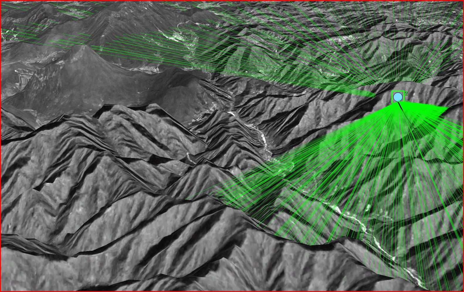 Line of Sight with High resolution Terrain appears different